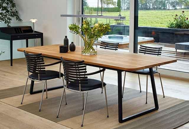 实木喷漆会议桌 带线盒15人位会议桌