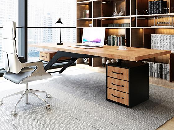 办公室老板办公桌-办公室班台-品源办公室班台