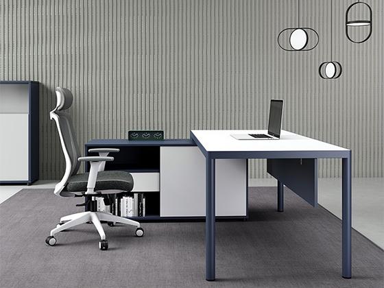 p时尚现代老板桌-办公室班台-品源办公室班台