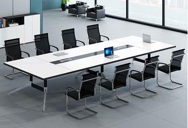 板式时尚会议桌 高档大气开会桌 现代简约高档会议桌 板式现代简约高档办公桌