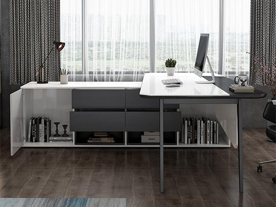 L型老板桌-班台尺寸-品源班台