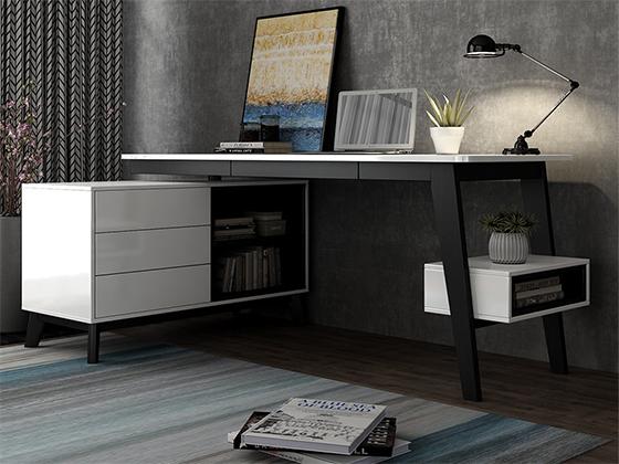 老板台实木办公桌尺寸-办公室班台-品源办公室班台