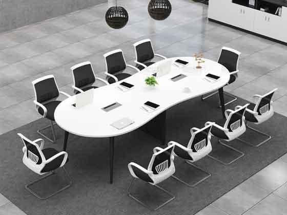 实木钢架会议桌-会议桌尺寸-品源会议桌