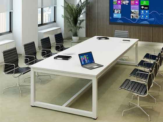 白色烤漆视频会议桌-会议桌定制-品源会议桌