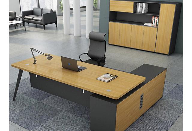 带边柜的办公桌 _办公桌活动柜_办公桌边柜