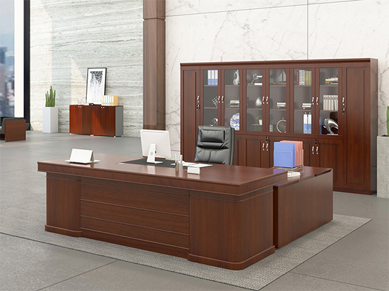 双人办公老板桌-班台尺寸-品源班台