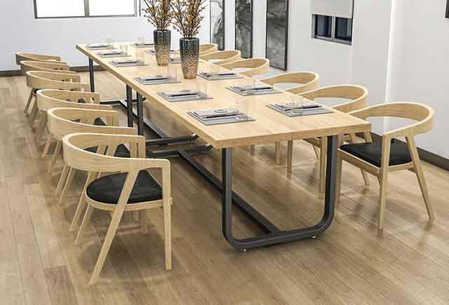 现代简约会议桌 实木贴皮会议桌