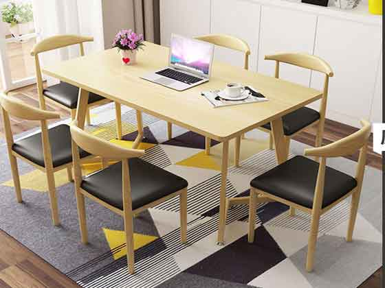 实木办公会议桌-会议桌尺寸-品源会议桌