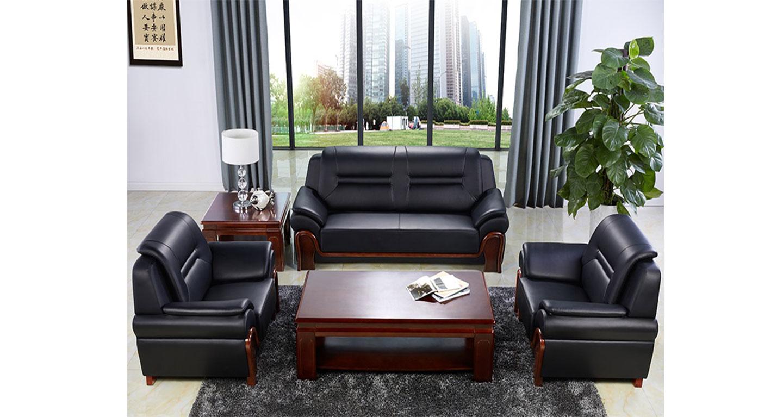 真皮商务沙发-办公沙发-品源办公沙发