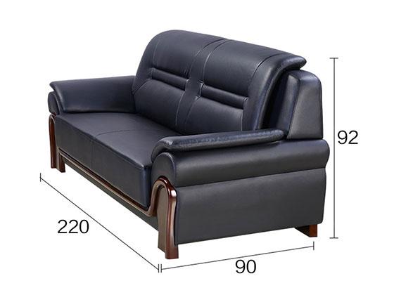 真皮沙发定做尺寸-办公沙发-品源沙发