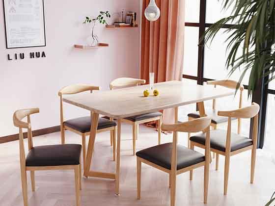 橡木椅子会议桌-办公室会议桌-品源办公室会议桌
