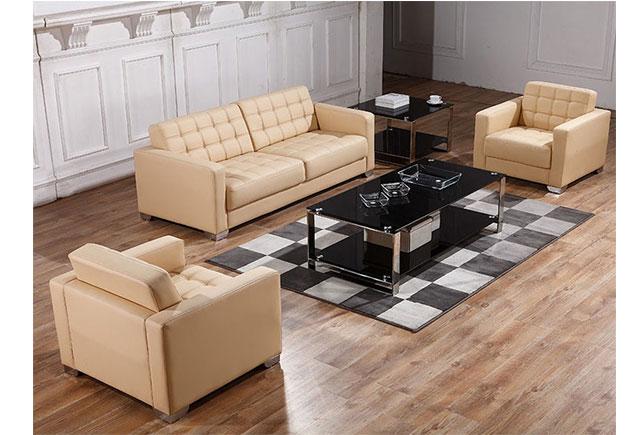 1+1+3组合真皮沙发 黑色时尚沙发 WSF033