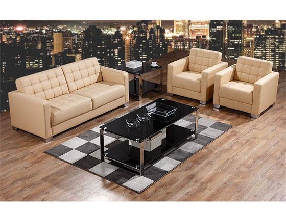 1+1+3组合真皮沙发-沙发定制厂家-品源办公沙发