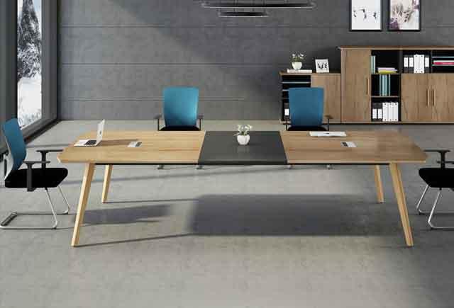 老板办公室会议桌_老板室里带会议桌