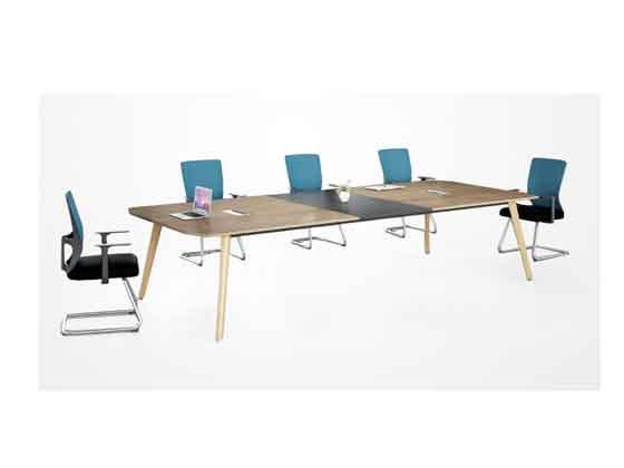 老板室里带会议桌-会议桌-品源会议桌