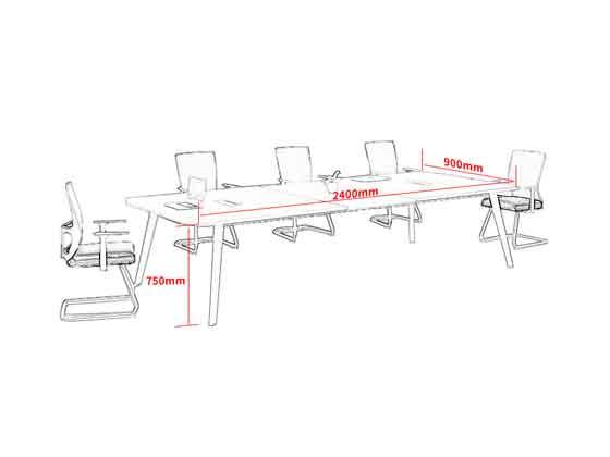 老板室里带会议桌尺寸-会议桌-品源会议桌