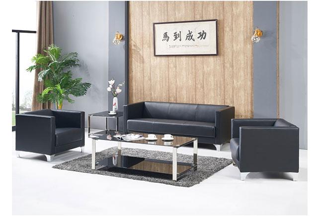 三人皮办公沙发_三人位沙发 WSF019