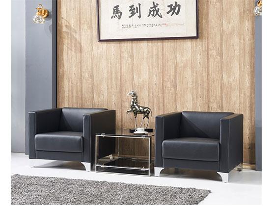 三人皮办公沙发-办公室沙发-品源办公沙发