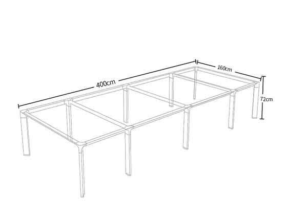 6人位会议桌尺寸-会议桌-品源会议桌