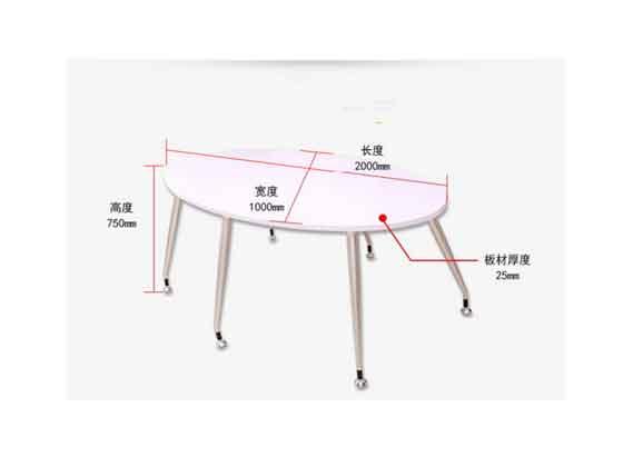 简约现代会议桌尺寸-会议桌-品源会议桌