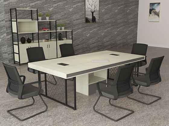 小实木会议桌-办公室会议桌-品源办公室会议桌