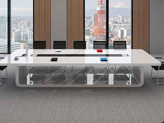 长方形实木会议桌-会议桌-品源会议桌
