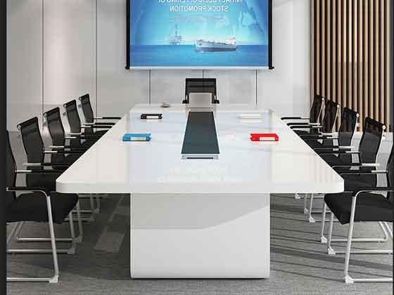 长方形型油漆会议桌-办公室会议桌-品源办公室会议桌