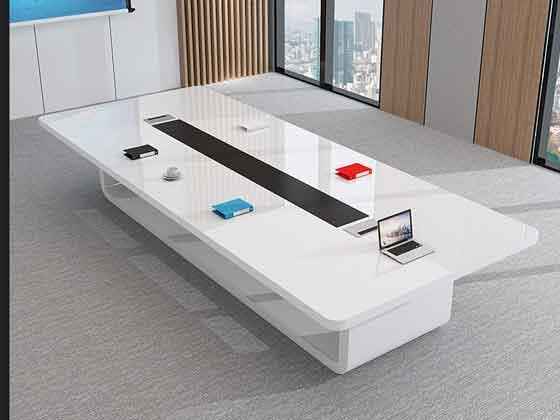 长方形实木会议桌-会议桌尺寸-品源会议桌