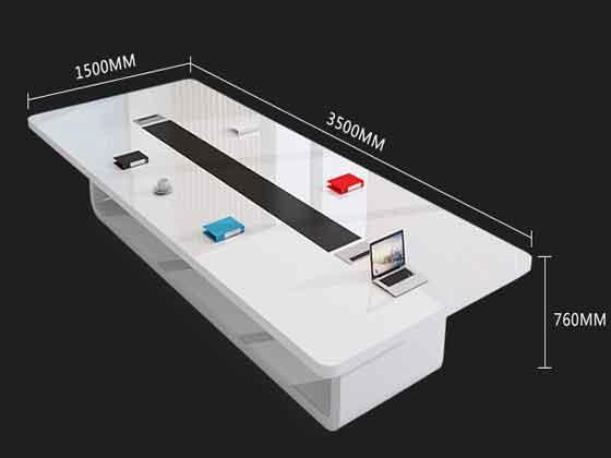 长方形实木会议桌尺寸-会议桌-品源会议桌