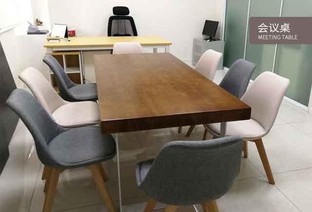 原木实木会议桌_实木贴木皮会议桌_实木会议桌
