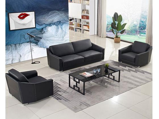 总裁办公室沙发中简-办公沙发-品源办公沙发
