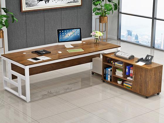 钢架结构经理办公桌-班台-品源班台