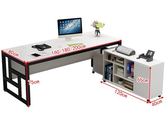 钢木老板桌尺寸-班台-品源班台