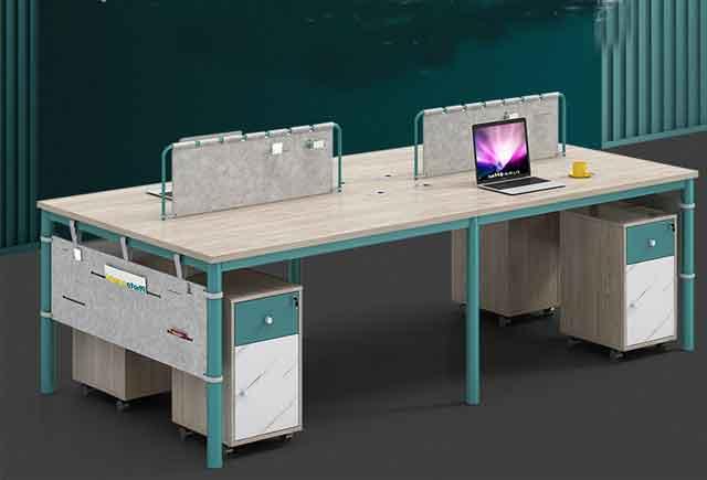 简约现代会议桌 实木贴皮培训桌 简约会议桌