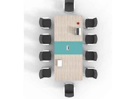 实木贴皮培训桌-会议桌-品源会议桌