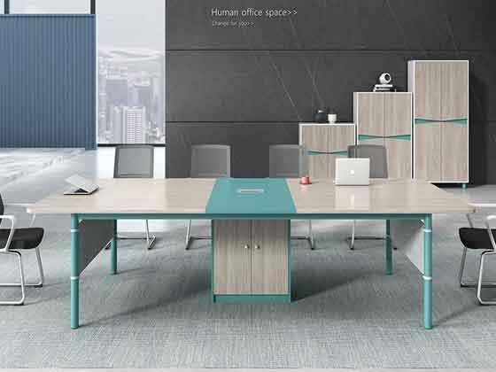 实木贴皮培训桌-会议桌定制-品源会议桌