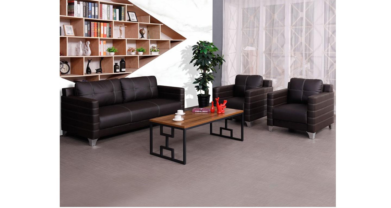 总裁办公室真皮沙发茶几-办公沙发-品源办公沙发