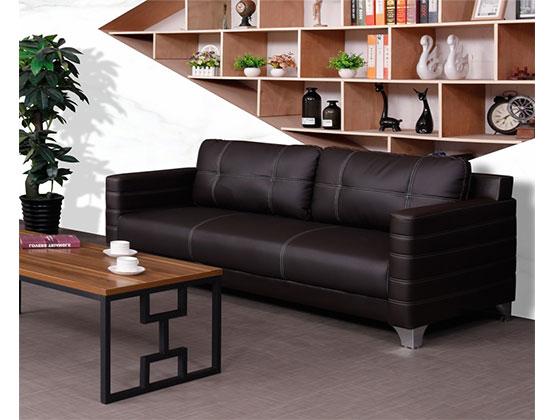 总裁办公室真皮沙发茶几-办公室沙发-品源办公沙发