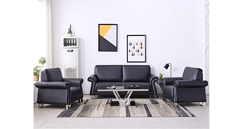 皮质办公沙发-办公沙发-品源办公沙发