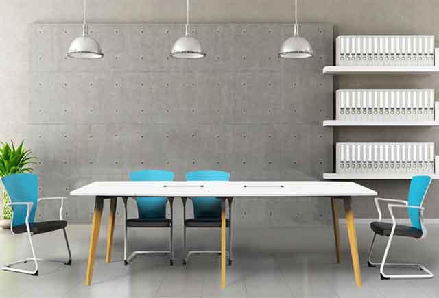 实木贴皮会议桌 油漆会议桌椅组合 办公室会议室接待台 实木办公室会议室接待台