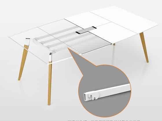 办公室会议室接待台-会议桌尺寸-品源会议桌