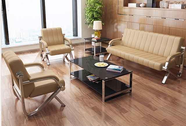 咖啡色商务沙发 总经理办公室沙