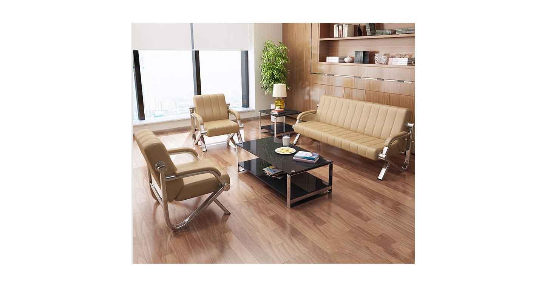 咖啡色商务沙发-办公沙发-品源办公沙发