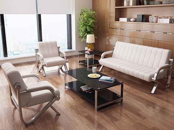 咖啡色商务沙发-办公室沙发-品源办公沙发