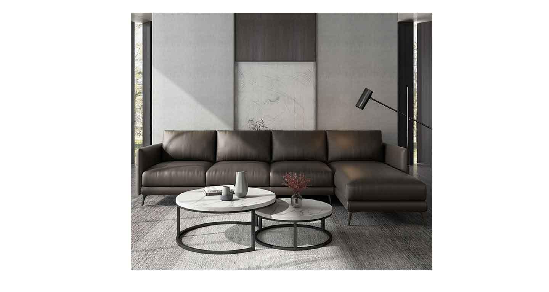 办公室黑皮三人沙发-办公沙发-品源办公沙发