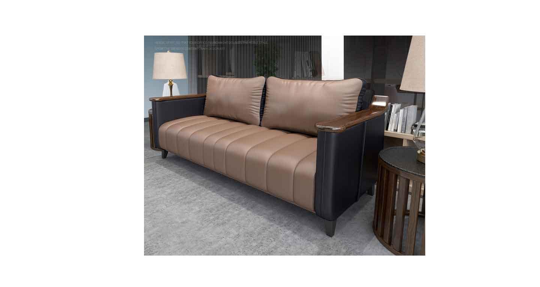 咖啡色办公沙发-办公沙发-品源办公沙发