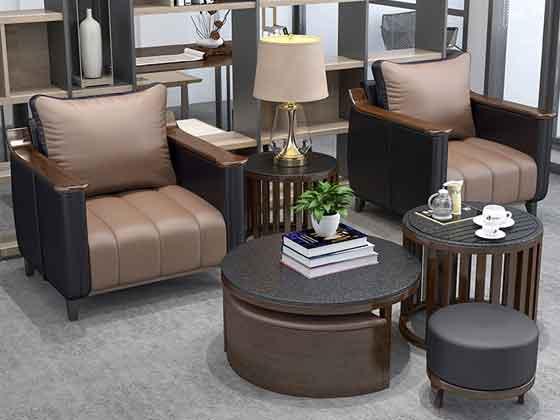 西皮1+1+3沙发-办公室沙发-品源办公沙发