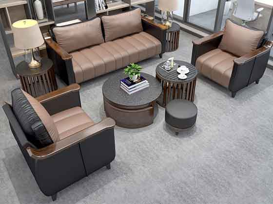 西皮1+1+3沙发-办公沙发-品源办公沙发