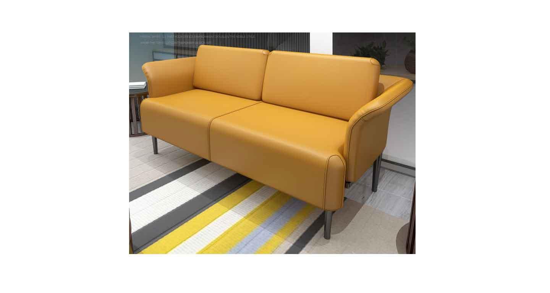 现代简约真皮沙发-办公沙发-品源办公沙发