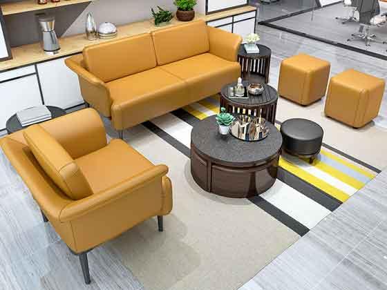 现代简约真皮沙发-办公室沙发-品源办公沙发